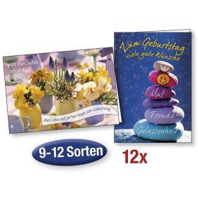 """Spar-Paket: 12 Faltkarten """"Geburtstag"""""""
